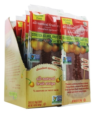Stretch Island Fruit - All-Natural Fruit Strip Abundant Apricot - 0.5 oz. Formerly Original Fruit Leather