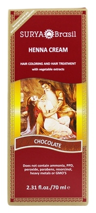 Surya Brasil - Henna Cream Hair Coloring with Organic Extracts Chocolate - 2.31 oz.