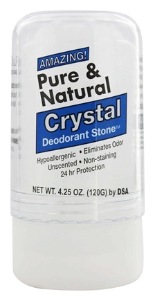 Thai Deodorant Stone - Pure and Natural Crystal Push-Up Deodorant - 4.25 oz.