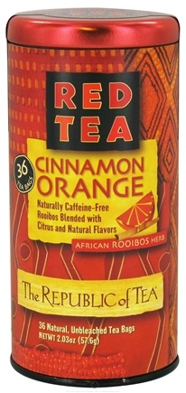 DROPPED: The Republic of Tea - Red Tea Cinnamon Orange - 36 Tea Bags CLEARANCE PRICED
