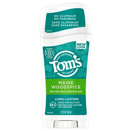 Tom's of Maine - Natural Deodorant Stick Long-Lasting Maine Woodspice - 2.25 oz.