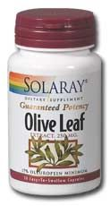 DROPPED: Solaray - Olive Leaf Extract - 30 Capsules