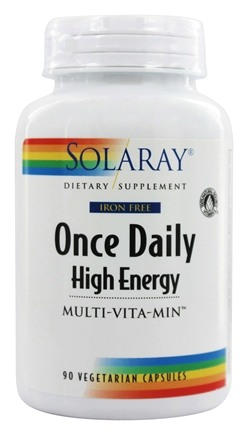 Solaray - Once Daily High Energy Multi-Vita-Min Iron-Free - 90 Capsules