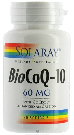 DROPPED: Solaray - BioCoQ-10 60 mg. - 30 Softgels