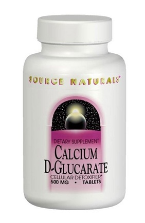 DROPPED: Source Naturals - Calcium D-Glucarate Cellular Detoxifier 500 mg. - 30 Tablets CLEARANCE PRICED