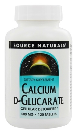 Source Naturals - Calcium D-Glucarate Cellular Detoxifier 500 mg. - 120 Tablets
