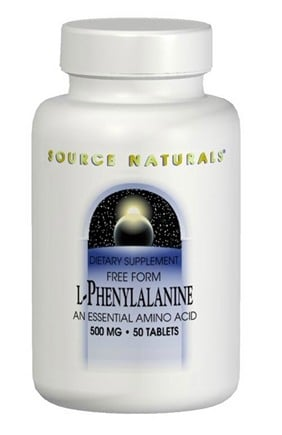 DROPPED: Source Naturals - L-Phenylalanine Powder - 3.5 oz.