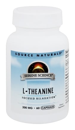 Source Naturals - L-Theanine 200 mg. - 60 Capsules