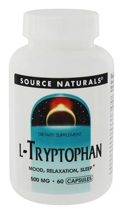 Source Naturals - L-Tryptophan 500 mg. - 60 Capsules