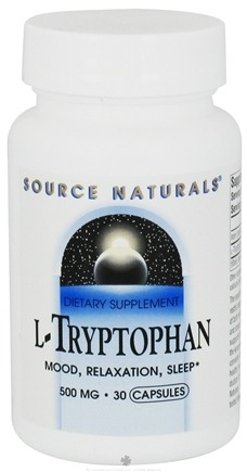 DROPPED: Source Naturals - L-Tryptophan 500 mg. - 30 Capsules