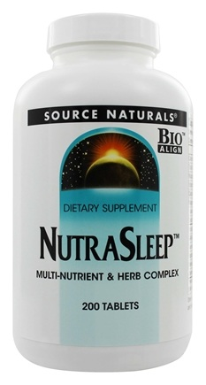 DROPPED: Source Naturals - NutraSleep Multi-Nutrient & Herb Complex - 200 Tablets