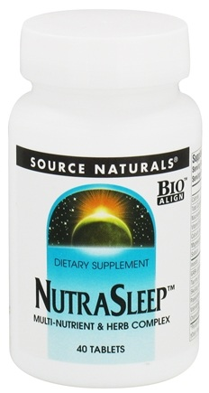 DROPPED: Source Naturals - NutraSleep - 40 Tablets CLEARANCED PRICED