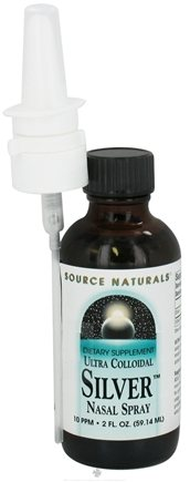 DROPPED: Source Naturals - Ultra Colloidal Silver Nasal Spray 10 Ppm - 2 oz. CLEARANCE PRICED