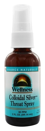 Source Naturals - Wellness Colloidal Silver Throat Spray 30 Ppm - 2 oz.