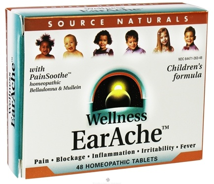 DROPPED: Source Naturals - Wellness EarAche Children's Formula - 48 Tablets CLEARANCE PRICED