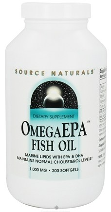 DROPPED: Source Naturals - Omega EPA Fish Oil Marine Lipids with EPA & DHA 1000 mg. - 200 Softgels