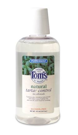 DROPPED: Tom's of Maine - Natural Tartar Control Mouthwash Fluoride Free Peppermint - 16 oz.
