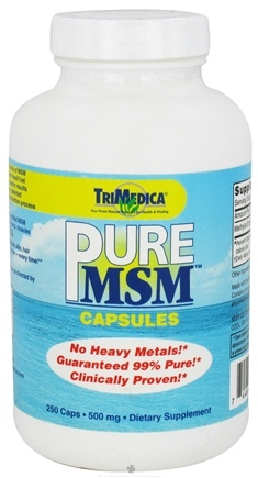 DROPPED: Trimedica - Pure MSM 500 mg. - 250 Capsules CLEARANCE PRICED