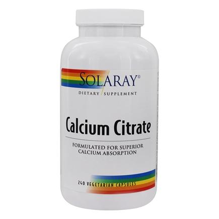 Solaray - Calcium Citrate 1000 mg. - 240 Capsules
