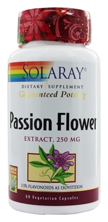 Solaray - Guaranteed Potency Passion Flower Extract 250 mg. - 60 Vegetarian Capsules