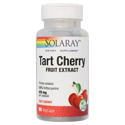 Solaray - Guaranteed Potency Tart Cherry 425 mg. - 90 Vegetarian Capsules