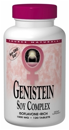 DROPPED: Source Naturals - Genistein Soy Complex (Eternal Woman) 1000 mg. - 120 Tablets