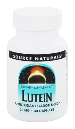Source Naturals - Lutein 20 mg. - 30 Capsules
