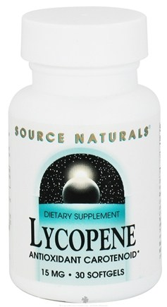 DROPPED: Source Naturals - Lycopene 15 mg. - 30 Softgels CLEARANCE PRICED