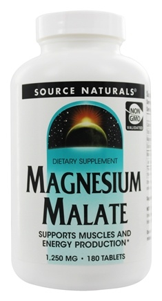 Source Naturals - Magnesium Malate 1250 mg. - 180 Tablets