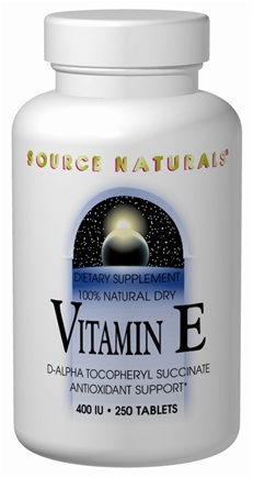 DROPPED: Source Naturals - Vitamin E Dry 400 IU - 50 Tablets