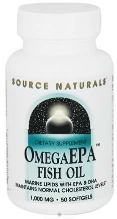 DROPPED: Source Naturals - Omega EPA Fish Oil 1000 mg. - 50 Softgels CLEARANCE PRICED