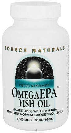 DROPPED: Source Naturals - Omega EPA Fish Oil 1000 mg. - 100 Softgels CLEARANCE PRICED