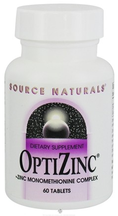 DROPPED: Source Naturals - OptiZinc 30 mg. - 60 Tablets CLEARANCE PRICED