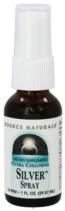 DROPPED: Source Naturals - Ultra Colloidal Silver Throat Spray 10 Ppm - 1 oz. CLEARANCE PRICED
