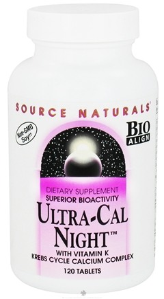 DROPPED: Source Naturals - Ultra-Cal Night with Vitamin K - 120 Tablets CLEARANCE PRICED