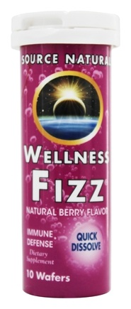 Source Naturals - Wellness Fizz Natural Berry Flavor - 10 Wafers