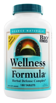 Source Naturals - Wellness Formula - 180 Tablets