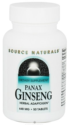 DROPPED: Source Naturals - Panax Ginseng 648 mg. - 50 Tablets CLEARANCE PRICED