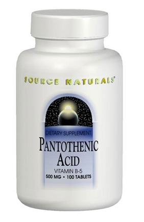 DROPPED: Source Naturals - Pantothenic Acid 100 mg. - 100 Tablets