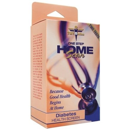 DROPPED: TestMedica - One Step Home Scan Diabetes Health Screen 2 Tests - CLEARANCE PRICED