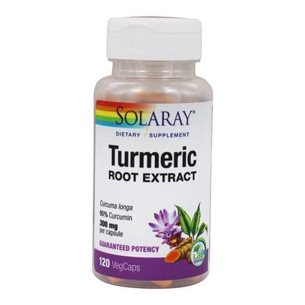 Solaray - Guaranteed Potency Turmeric Root Extract 300 mg. - 120 Capsules