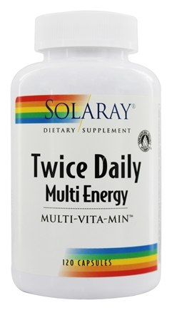 Solaray - Twice Daily Multi Energy Multi-Vita-Min - 120 Capsules