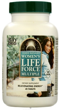 DROPPED: Source Naturals - Women's Life Force Multiple No Iron - 45 Tablets CLEARANCE PRICED