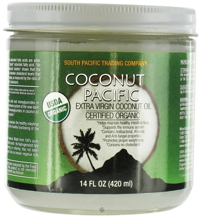 DROPPED: South Pacific Trading Company - Extra Virgin Coconut Oil 100% Pure, Certified Organic - 14 oz. CLEARANCE PRICED