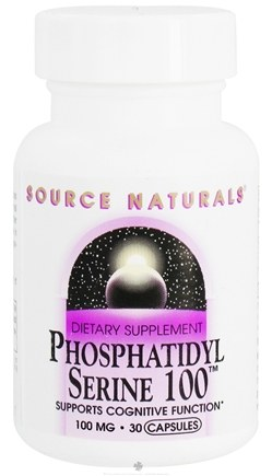 DROPPED: Source Naturals - Phosphatidyl Serine 100 mg. - 30 Capsules CLEARANCE PRICED