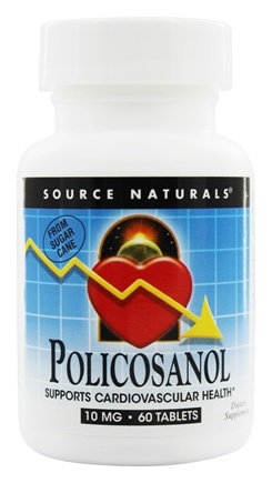 DROPPED: Source Naturals - Policosanol 10 mg. - 60 Tablets