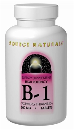 DROPPED: Source Naturals - Vitamin B-1 High Potency 500 mg. - 100 Tablets formerly Thiamind