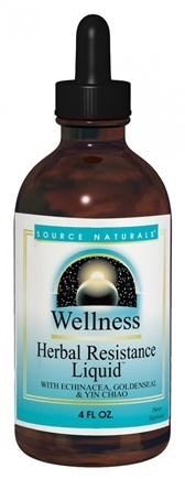 DROPPED: Source Naturals - Wellness Herbal Resistance Liquid Alcohol Free - 4 oz.