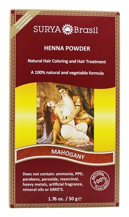 Surya Brasil - Henna Powder Natural Hair Coloring Mahogony - 1.76 oz.
