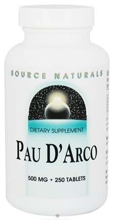 DROPPED: Source Naturals - Pau d'Arco 500 mg. - 250 Tablets CLEARANCE PRICED